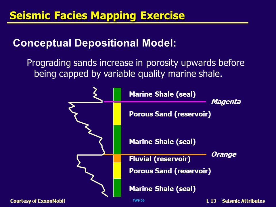 Seismic Facies Mapping Exercise