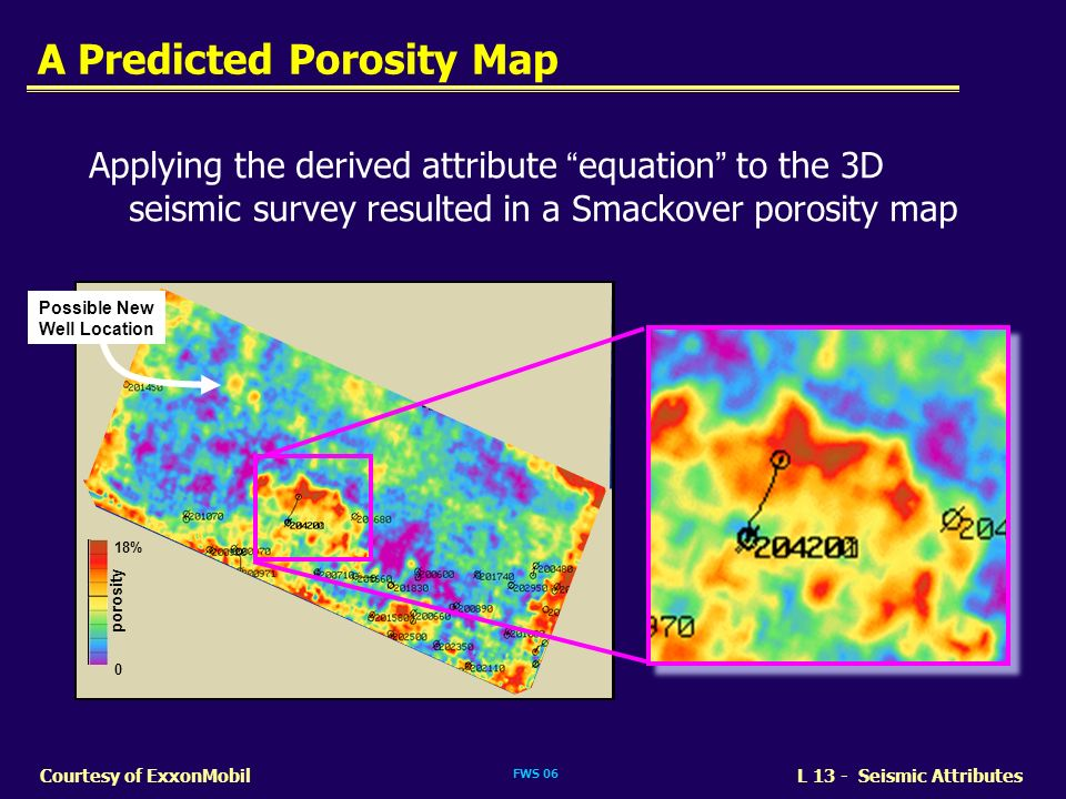 A Predicted Porosity Map