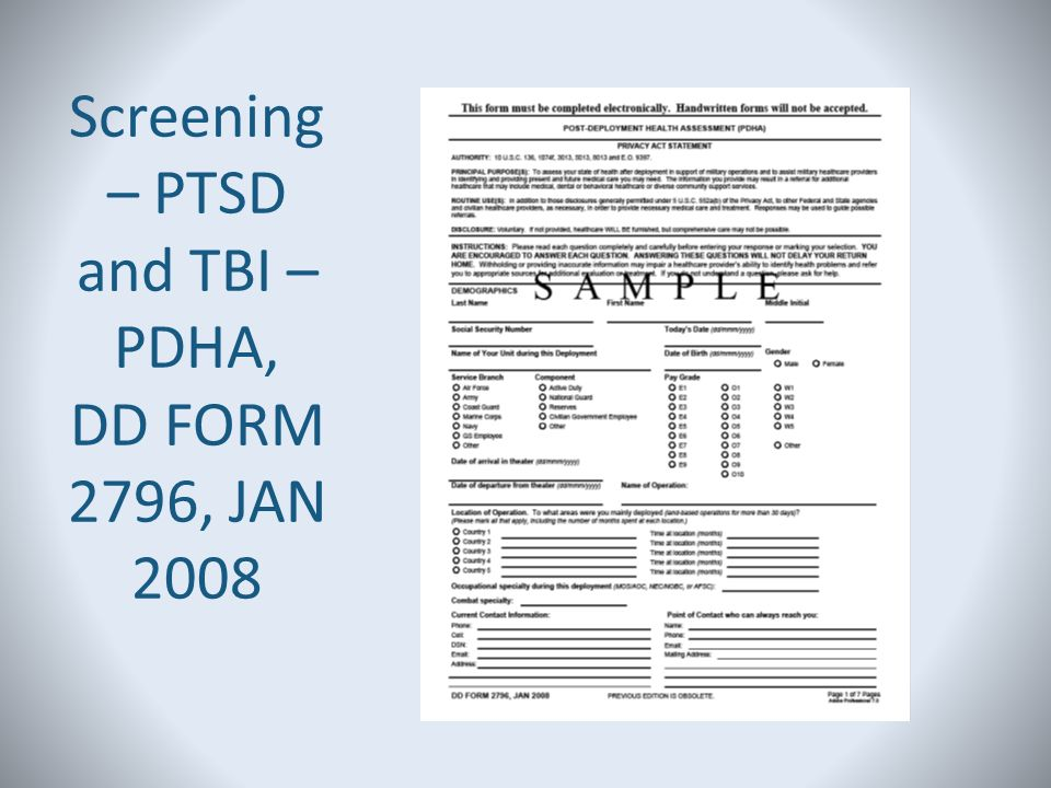 Traumatic Brain Injury and Post Traumatic Stress Disorder: Current ...