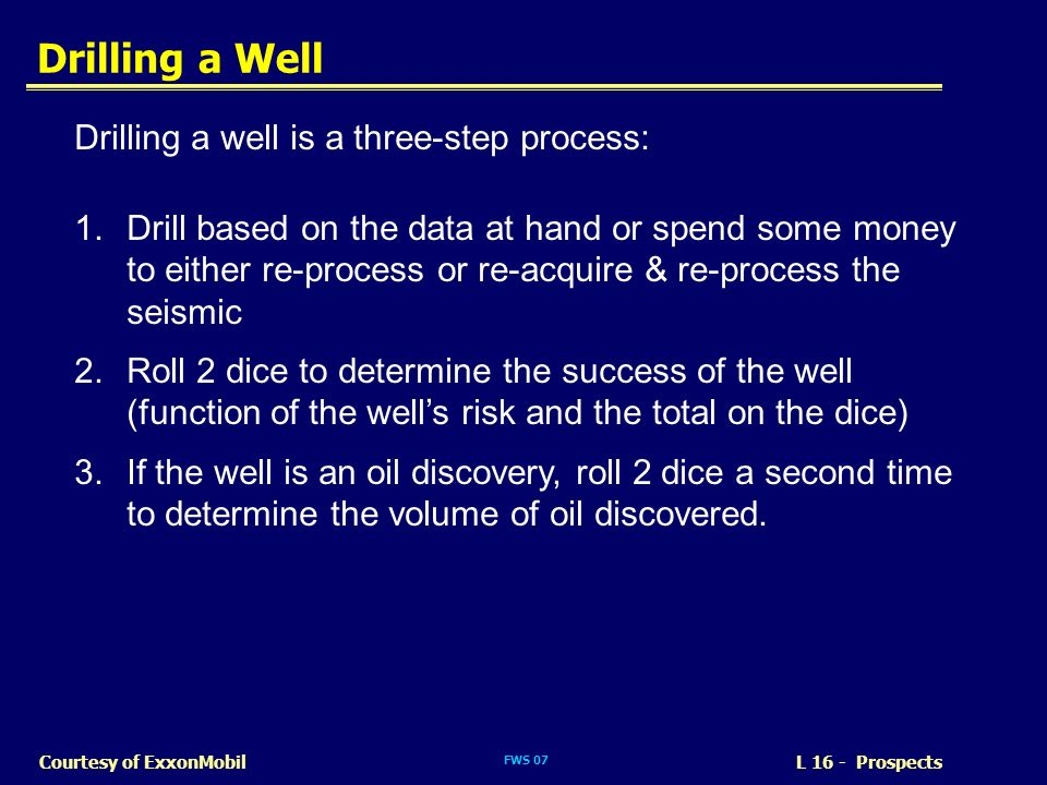 Drilling a Well Drilling a well is a three-step process: