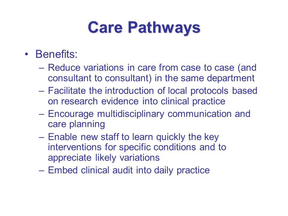 Care Pathways Benefits: