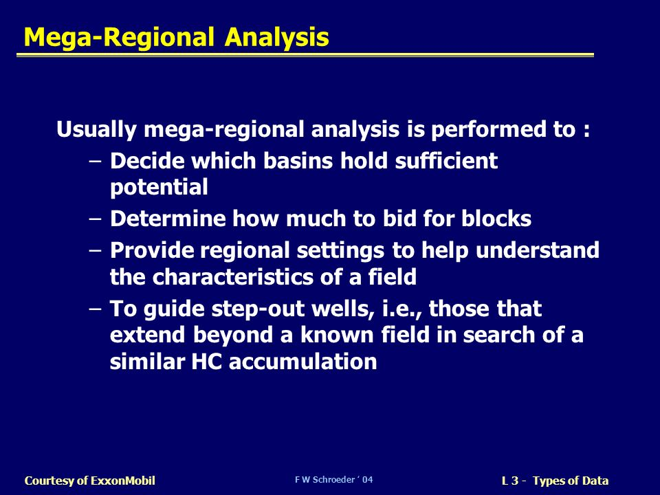 Mega-Regional Analysis
