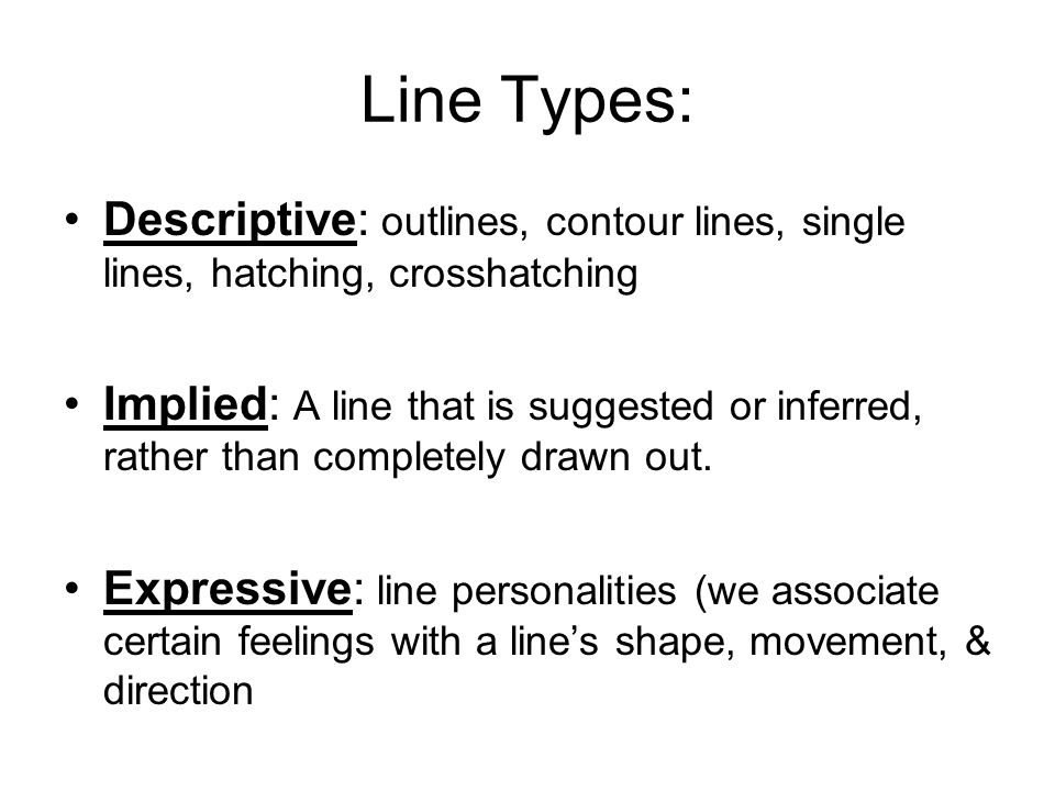 Kinds Of Lines In Art And Its Meaning : Art i vocabulary eoa pod etc ppt video online download