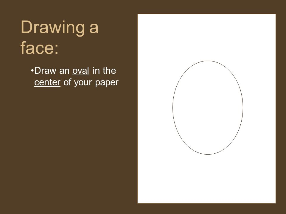 how to draw an oval on paper