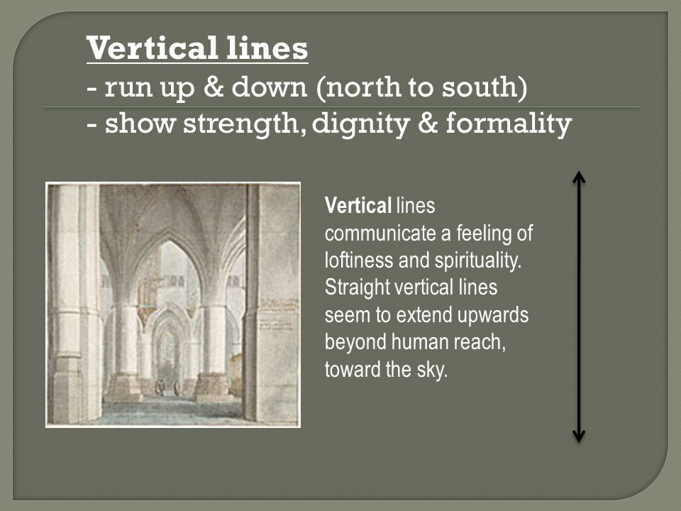 Vertical lines - run up & down (north to south)