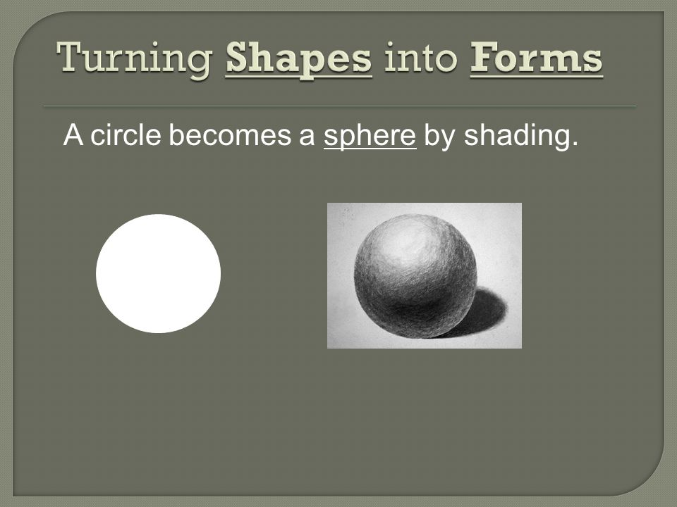 Turning Shapes into Forms