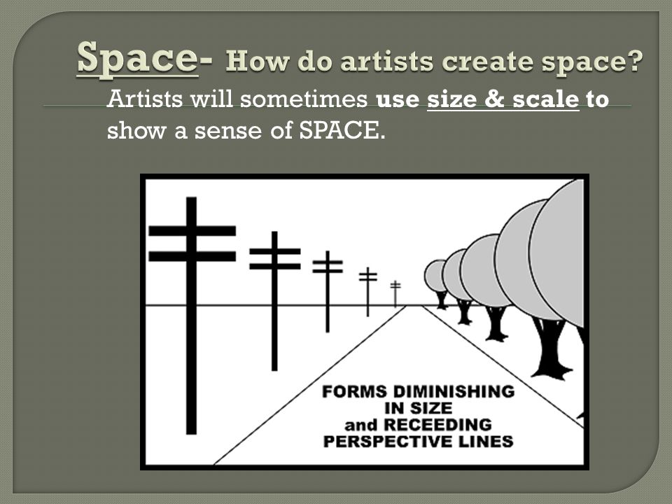 Space- How do artists create space