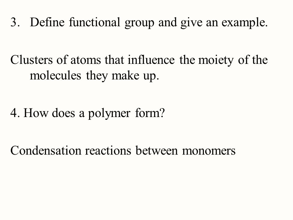 Define functional group and give an example.