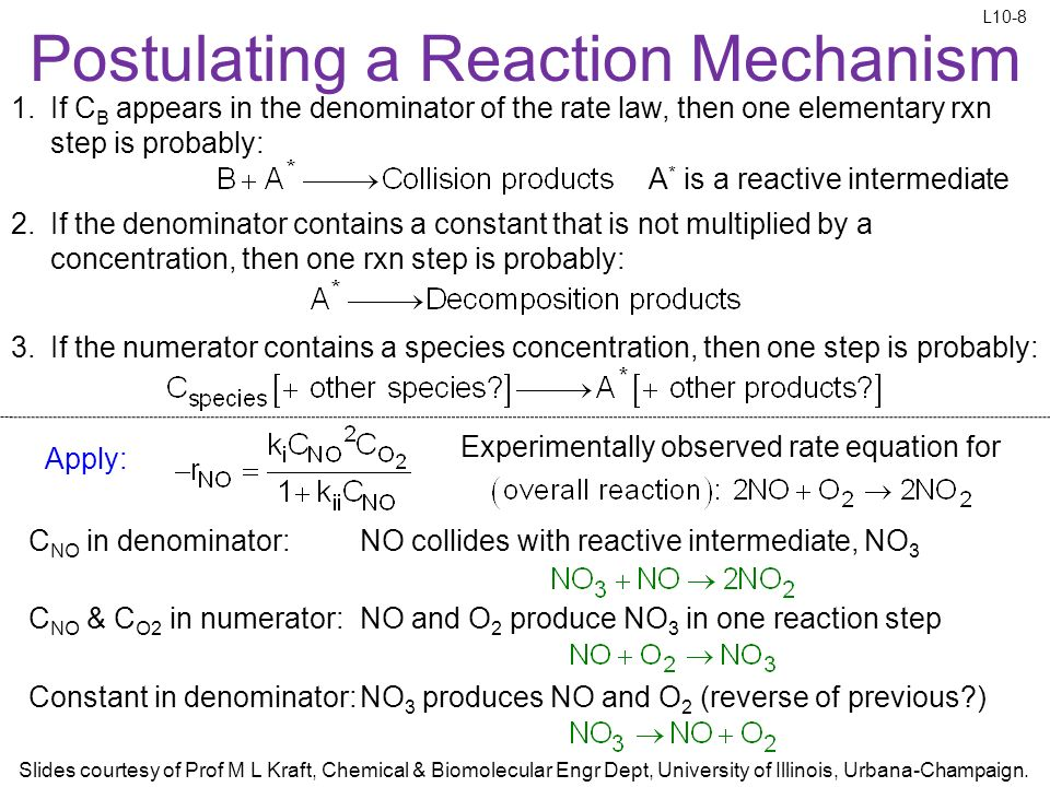 how to tell if a reaction is elementary