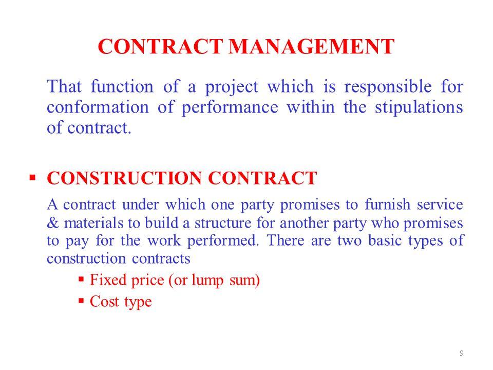 Construction contract management capital development for Fixed price construction contract