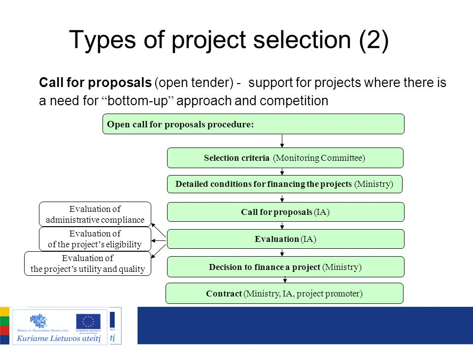 Types of project selection (2)