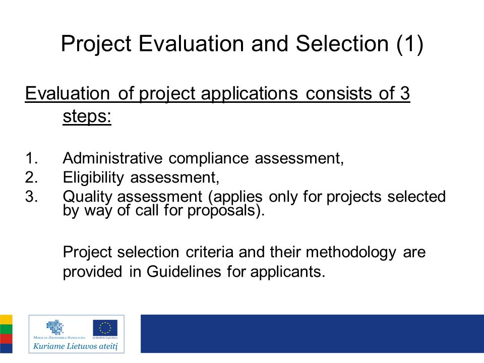 Project Evaluation and Selection (1)