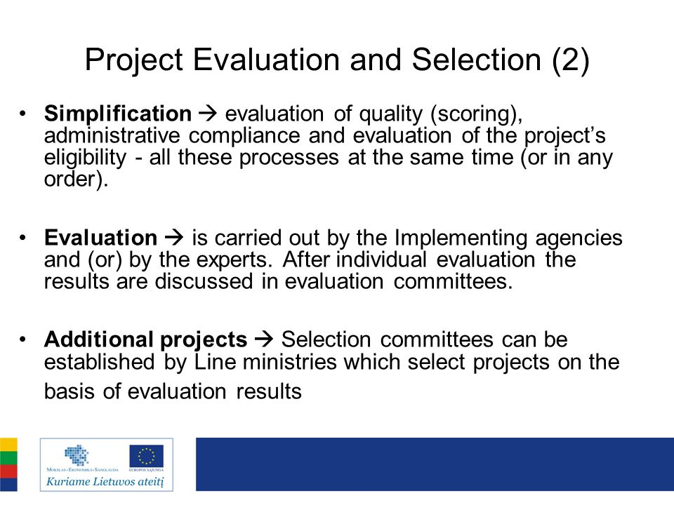 Project Evaluation and Selection (2)