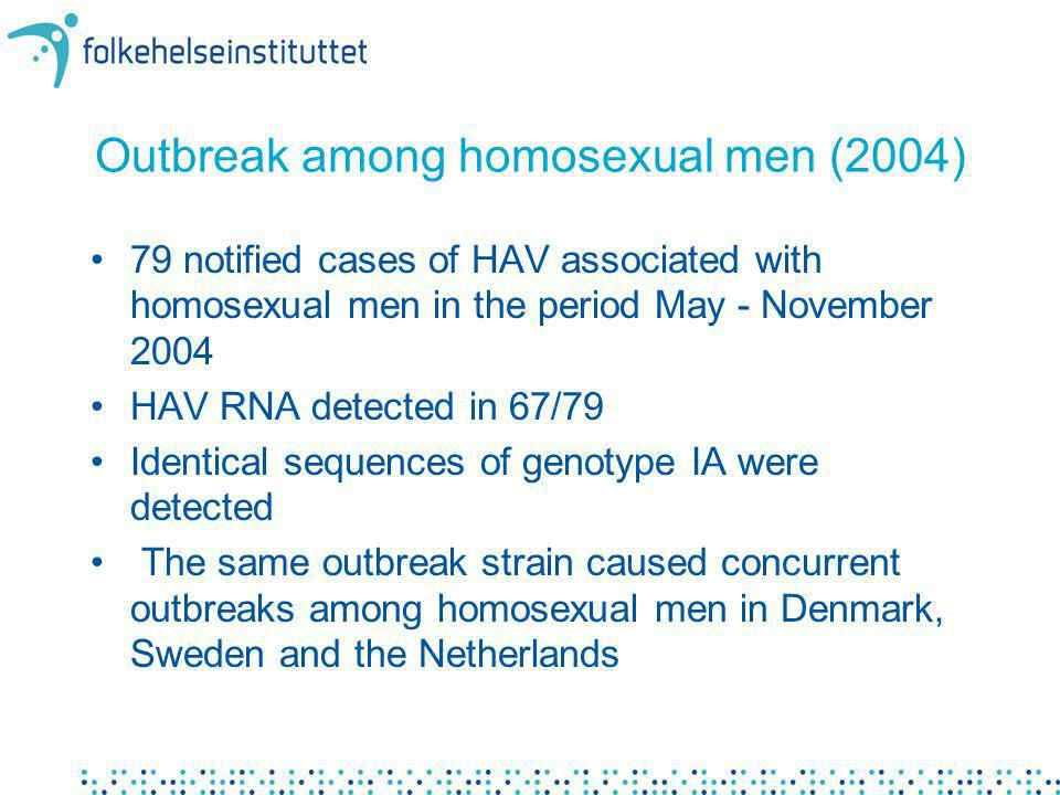 Outbreak among homosexual men (2004)