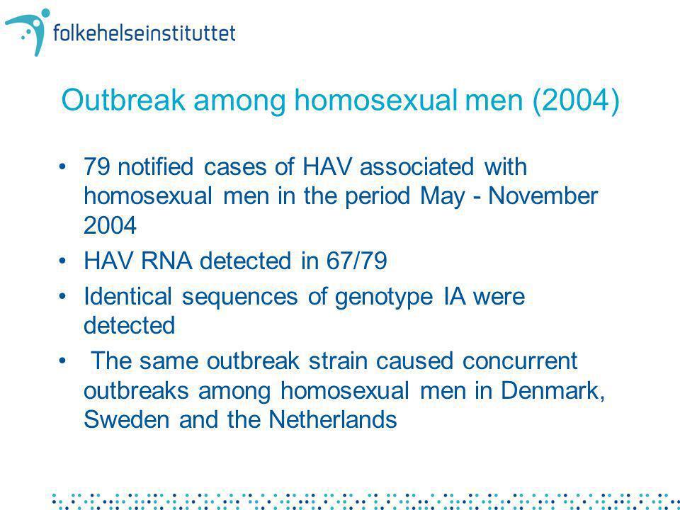 Outbreak among homosexual men (2004)