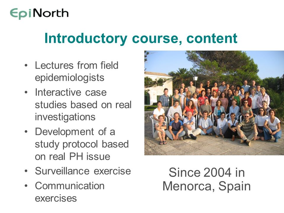 Introductory course, content