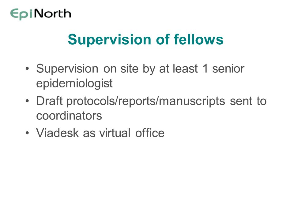 Supervision of fellows