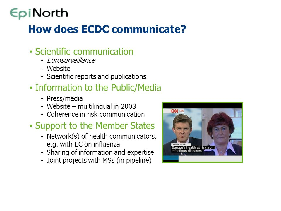 How does ECDC communicate
