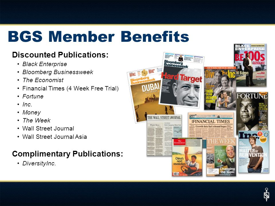 BGS Member Benefits Discounted Publications: