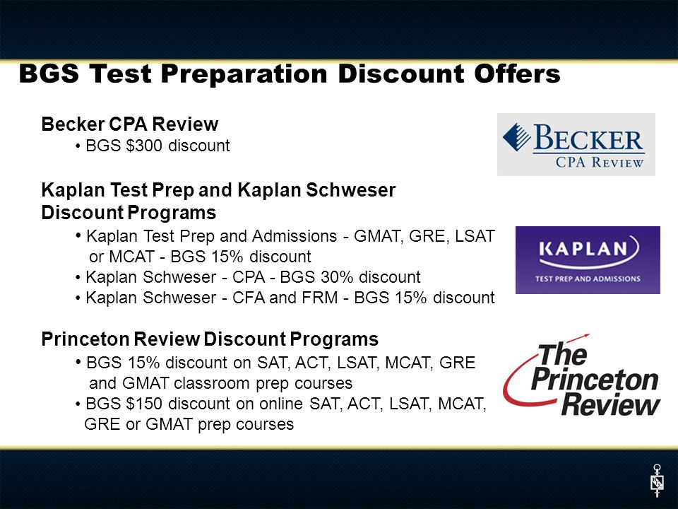 BGS Test Preparation Discount Offers