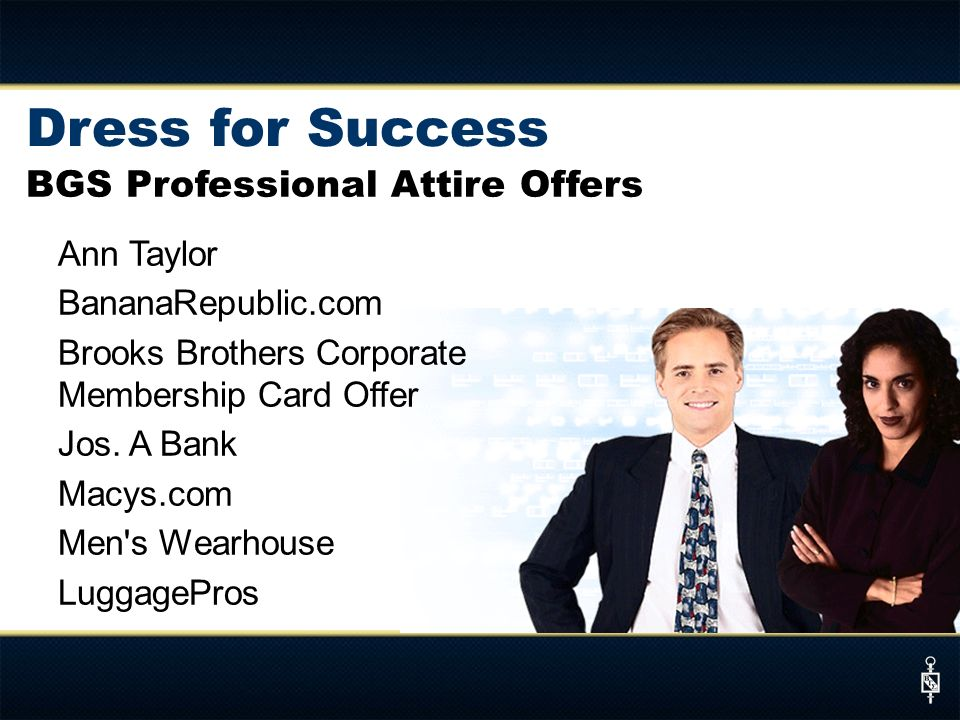 Dress for Success BGS Professional Attire Offers Ann Taylor
