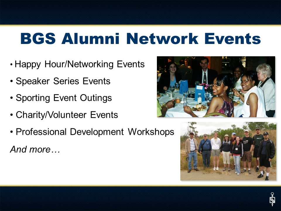 BGS Alumni Network Events