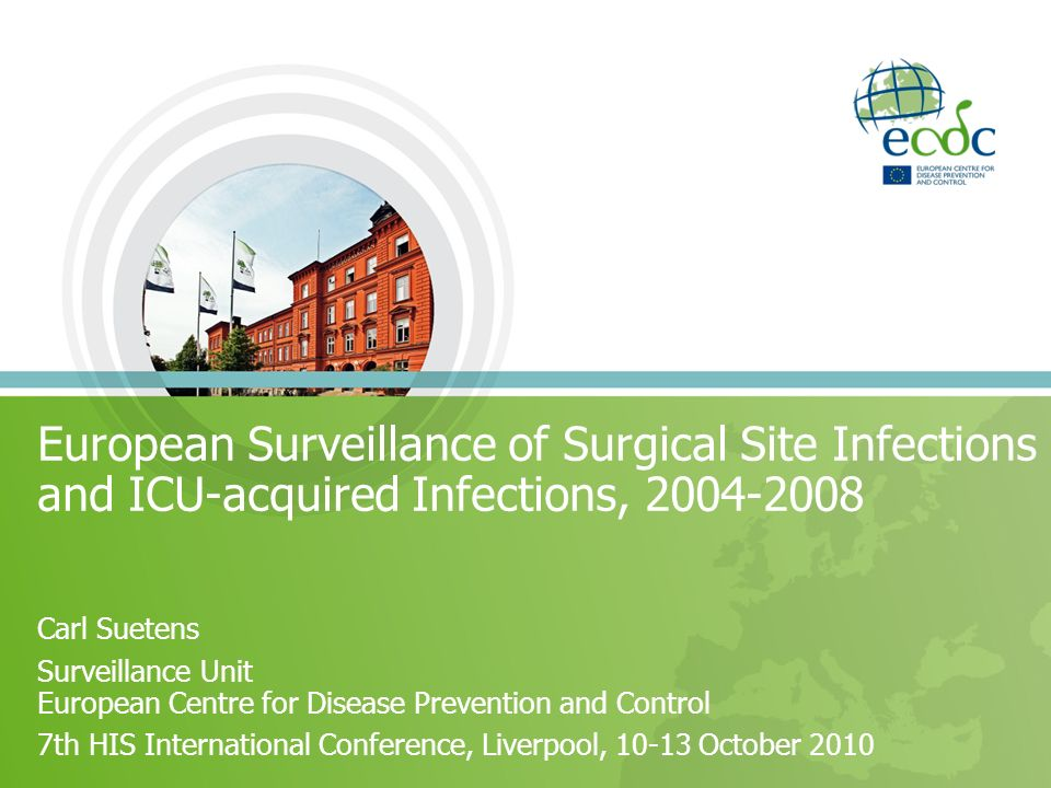 European Surveillance of Surgical Site Infections and ICU-acquired Infections, 2004-2008
