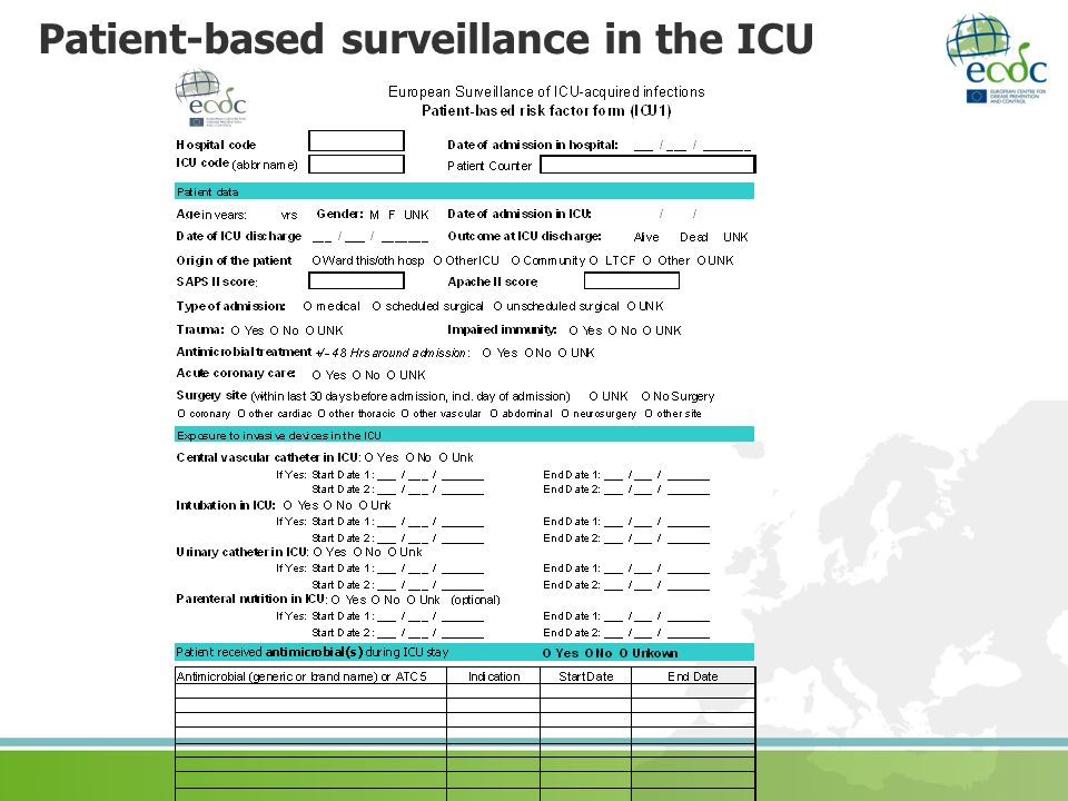 Patient-based surveillance in the ICU