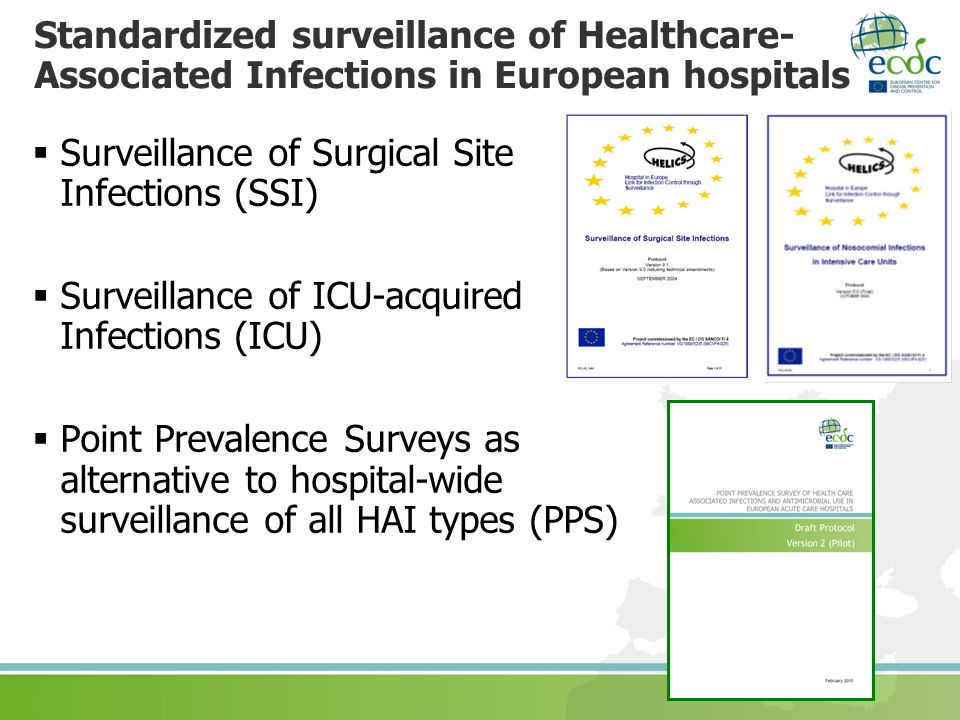Standardized surveillance of Healthcare-Associated Infections in European hospitals