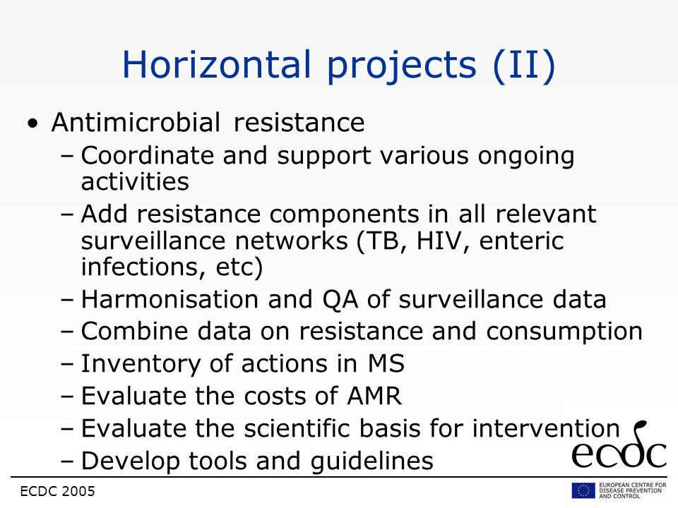 Horizontal projects (II)