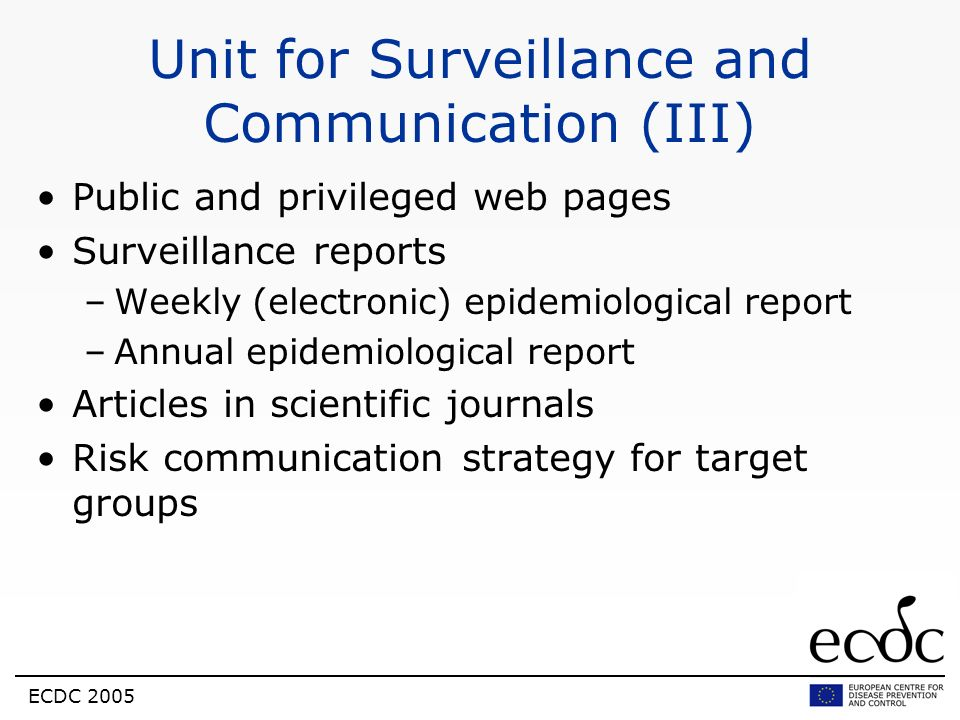 Unit for Surveillance and Communication (III)