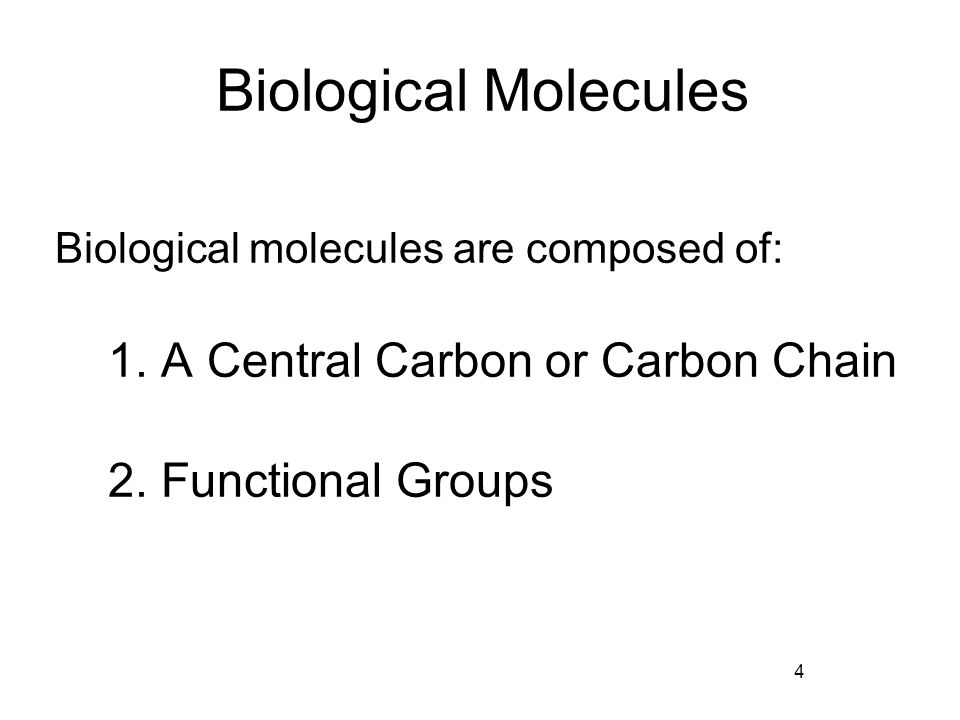 4 biological molecules Organic molecules, such as proteins, carbohydrates, lipids and nucleic acids, are made of simple subunits called monomers learn to identify and describe the different types of monomers that are.