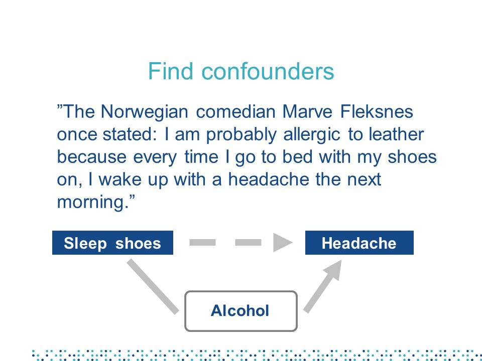 Find confounders