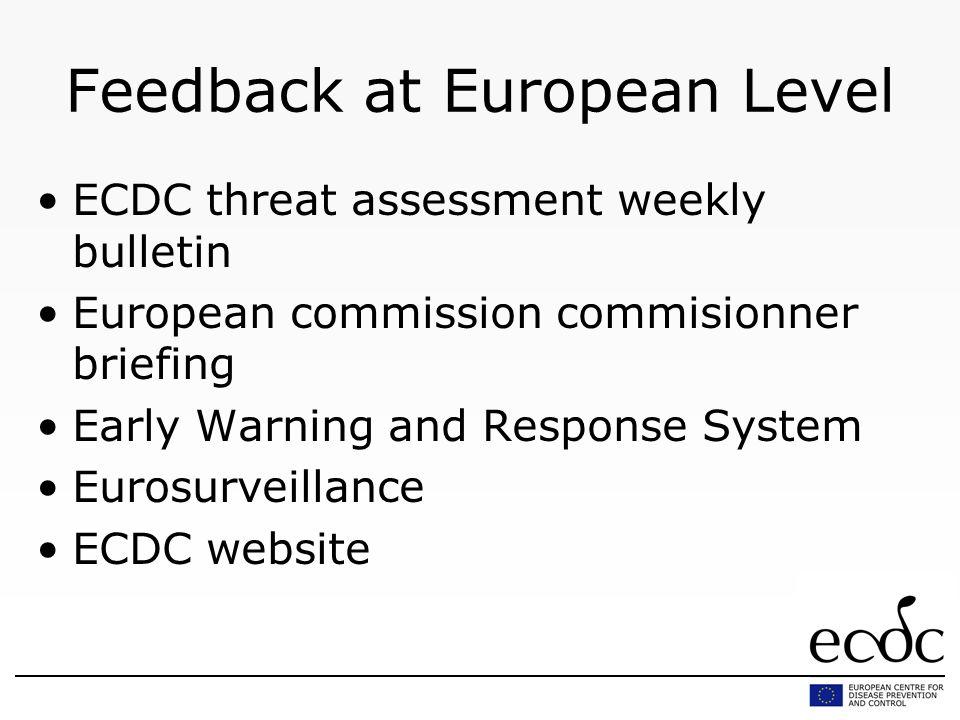 Feedback at European Level