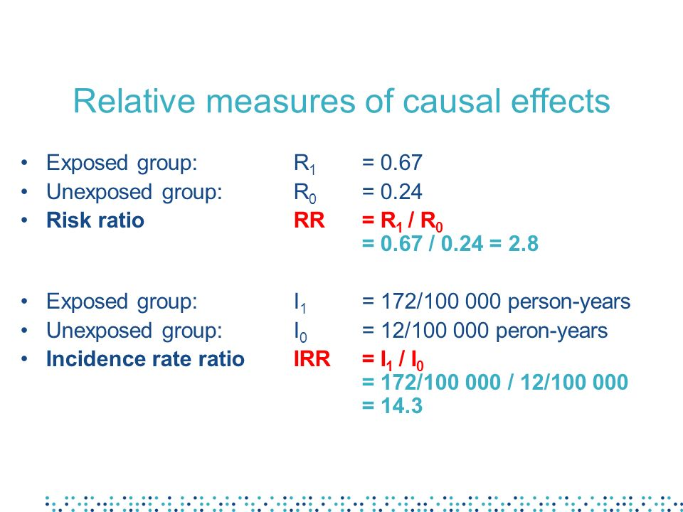 Relative measures of causal effects