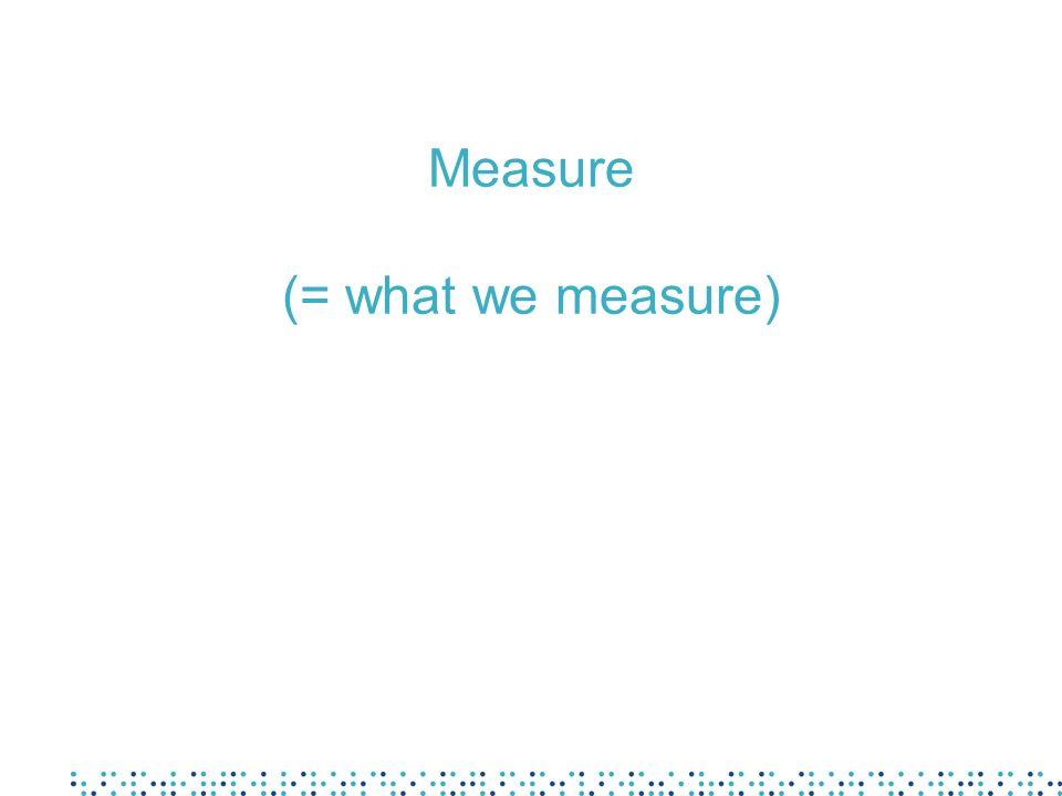 Measure (= what we measure)