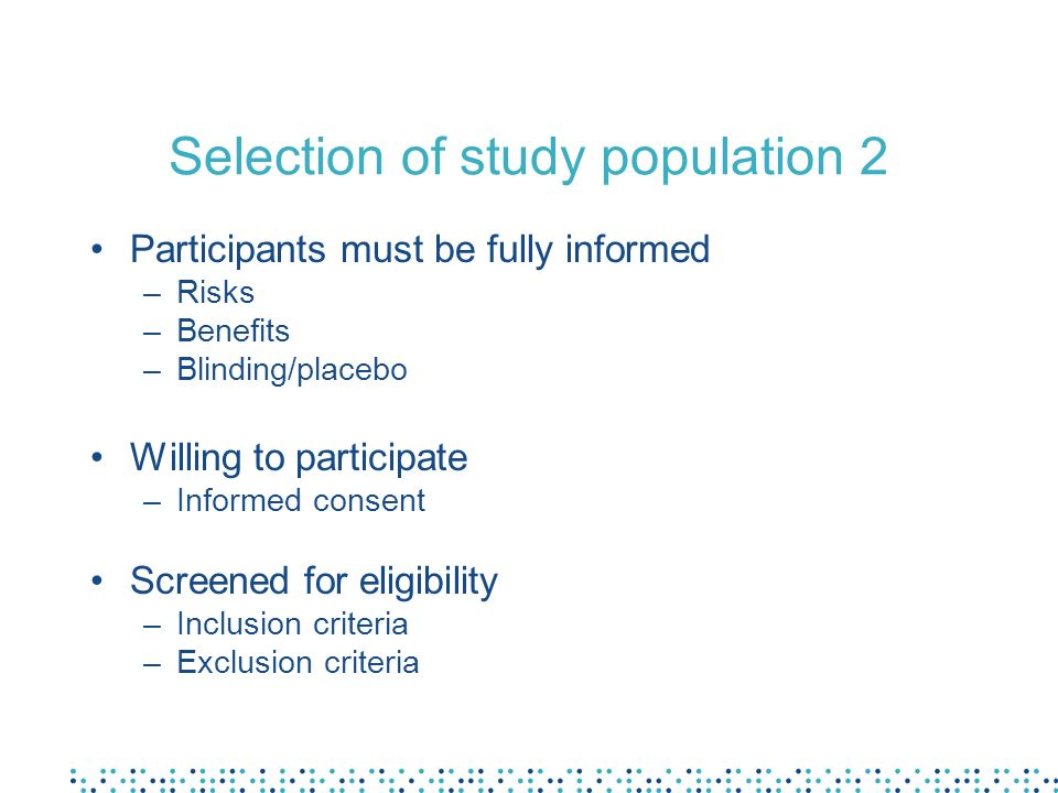 Selection of study population 2