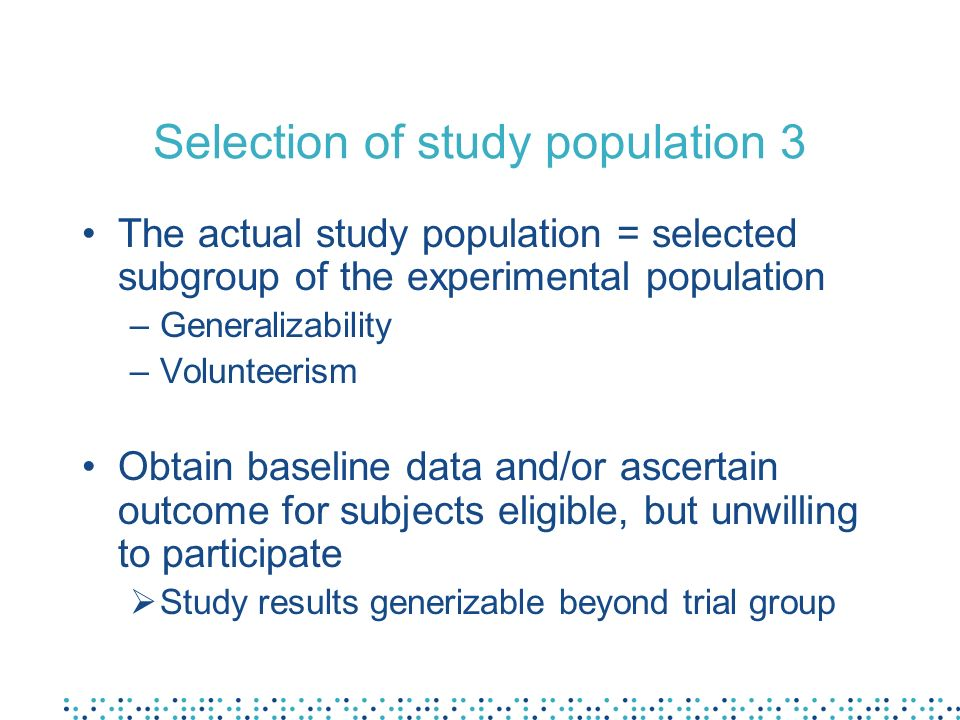 Selection of study population 3