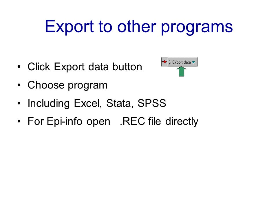 Export to other programs