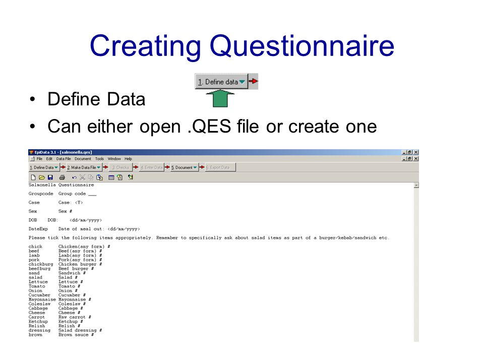 Creating Questionnaire