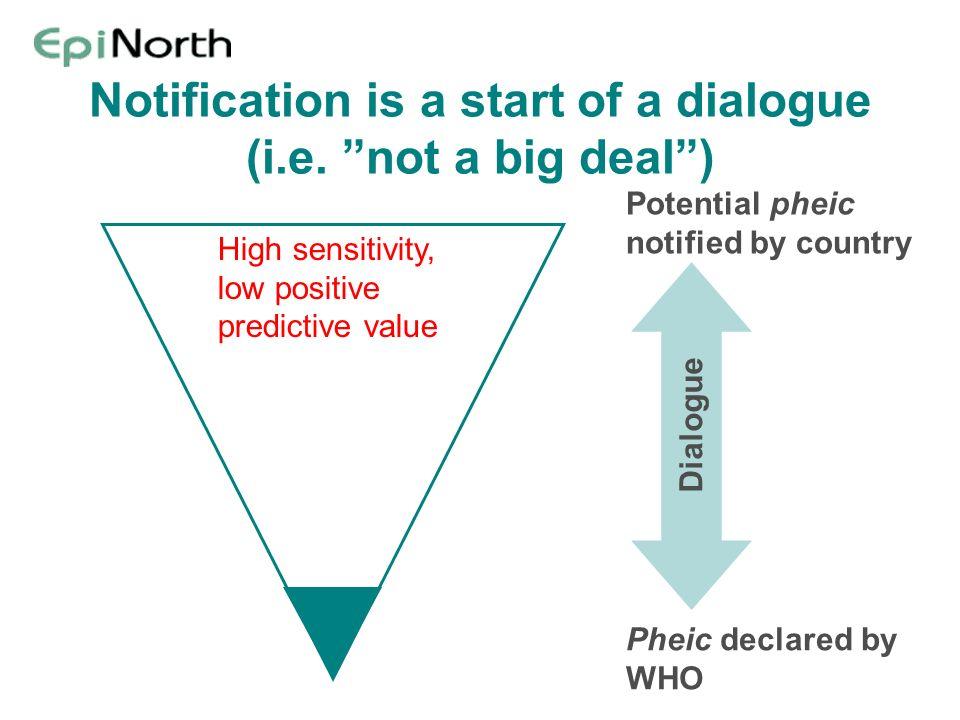 Notification is a start of a dialogue (i.e. not a big deal )