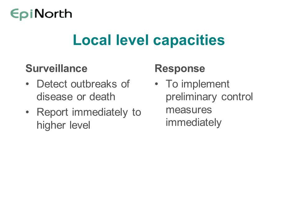 Local level capacities