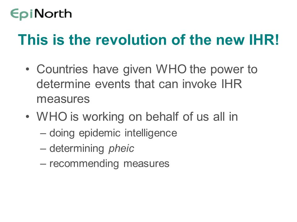 This is the revolution of the new IHR!