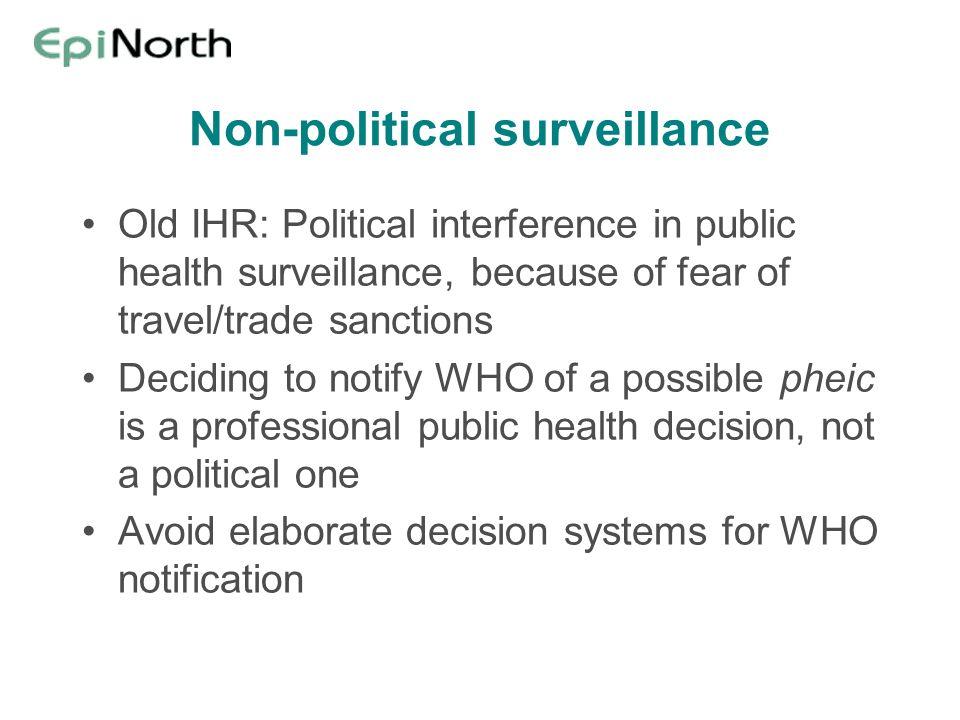 Non-political surveillance