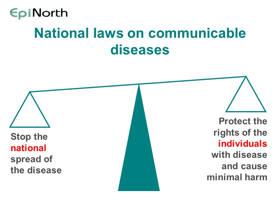 National laws on communicable diseases