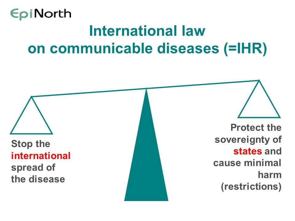 International law on communicable diseases (=IHR)