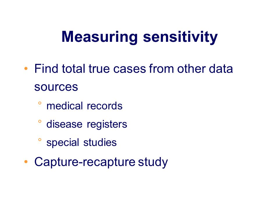 Measuring sensitivity