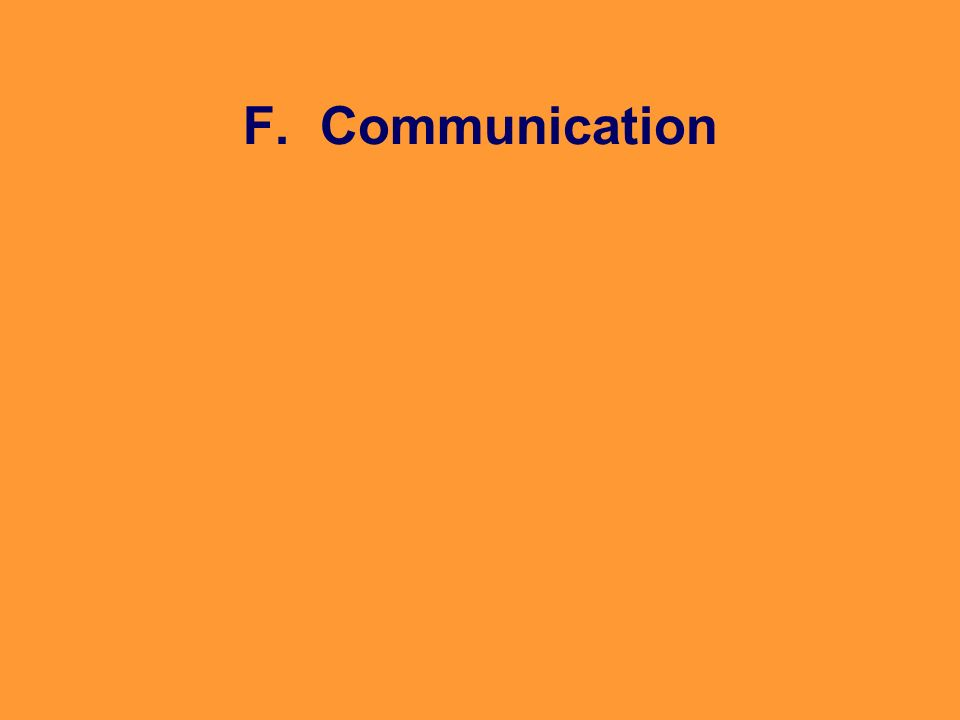 F. Communication