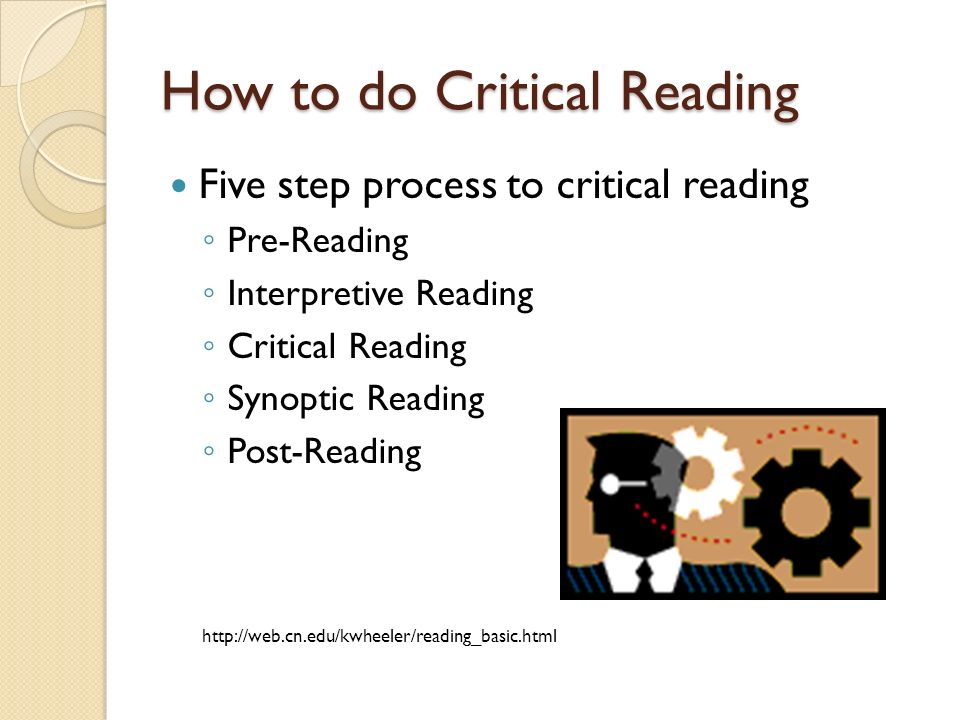 where do critical reading and critical thinking diverge Critical thinking just means absorbing important information and using that how to train your mind to think critically and form your as is reading more.