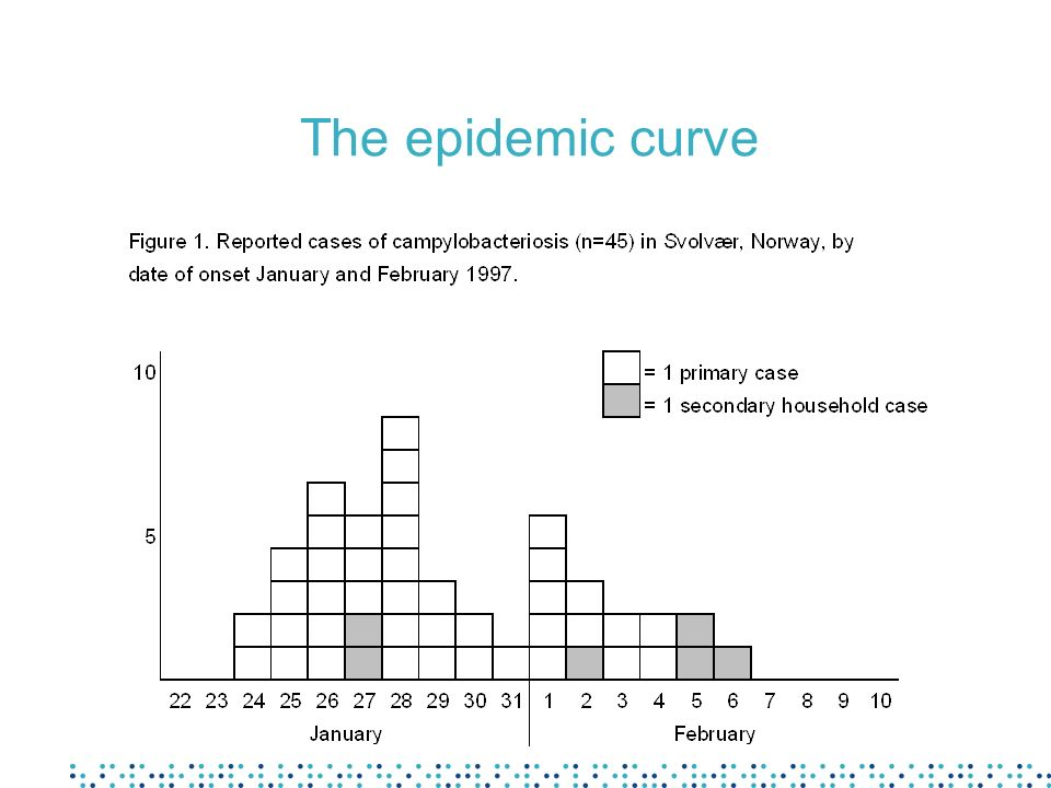 The epidemic curve